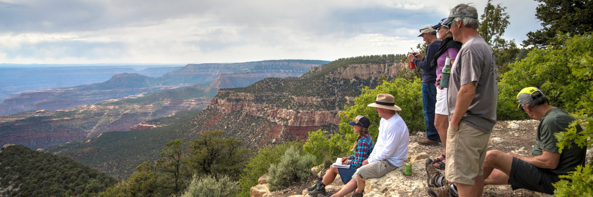 North Timp Point Overlook, North Rim of the Grand Canyon, guided tour