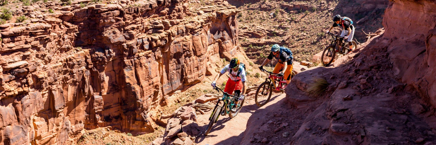 Amasa Back / Captain Ahab Trail during Moab's fall mountain bike season