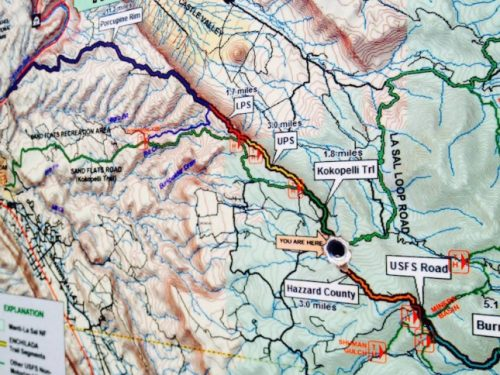 Map of The Whole Enchilada Trail