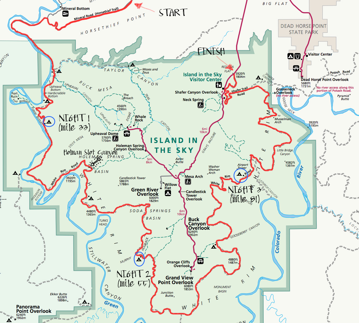 Map of White Rim Trail
