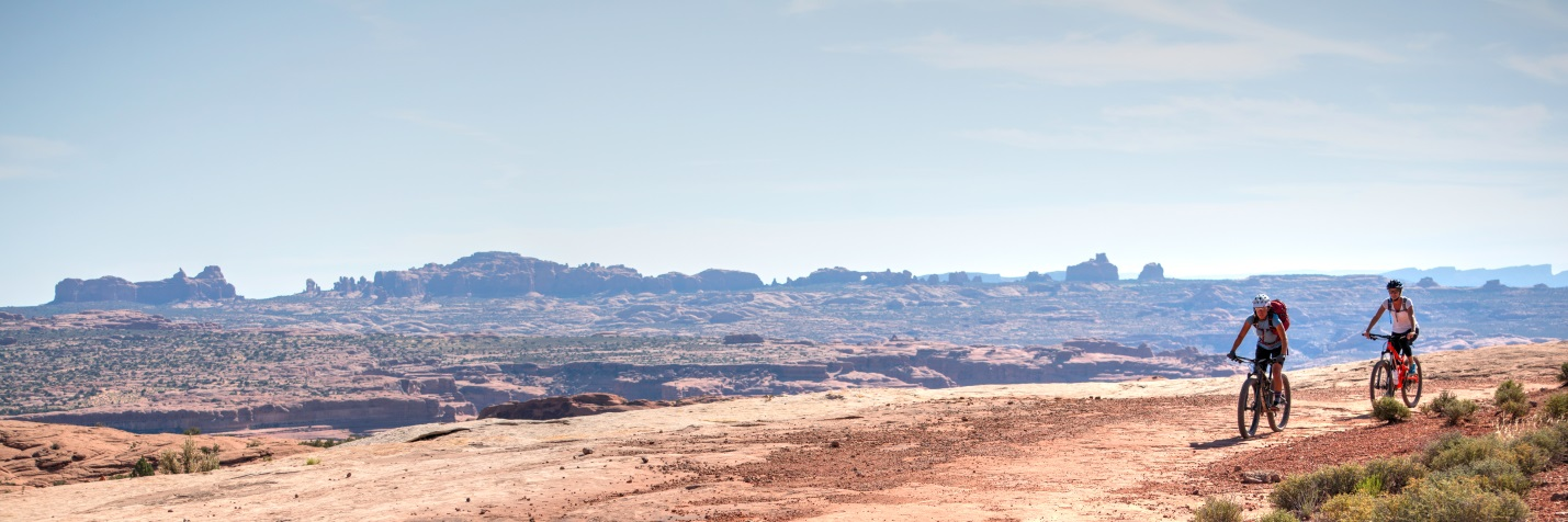 The Courthouse Loop: a popular Moab mountain bike trail during fall