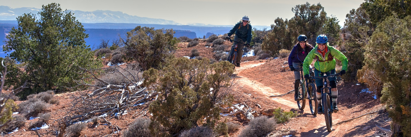 Dead Horse Point during Moab's fall mountain biking season