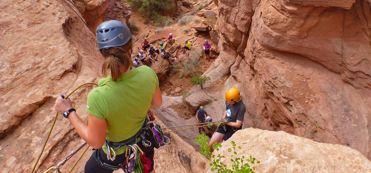 Adventure Holiday canyoneering in southeastern Utah
