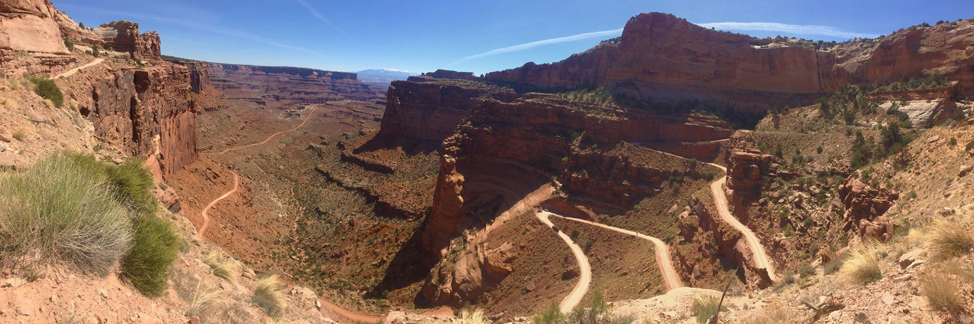 Shafer Trail Road, White Rim (by guest Bob W)