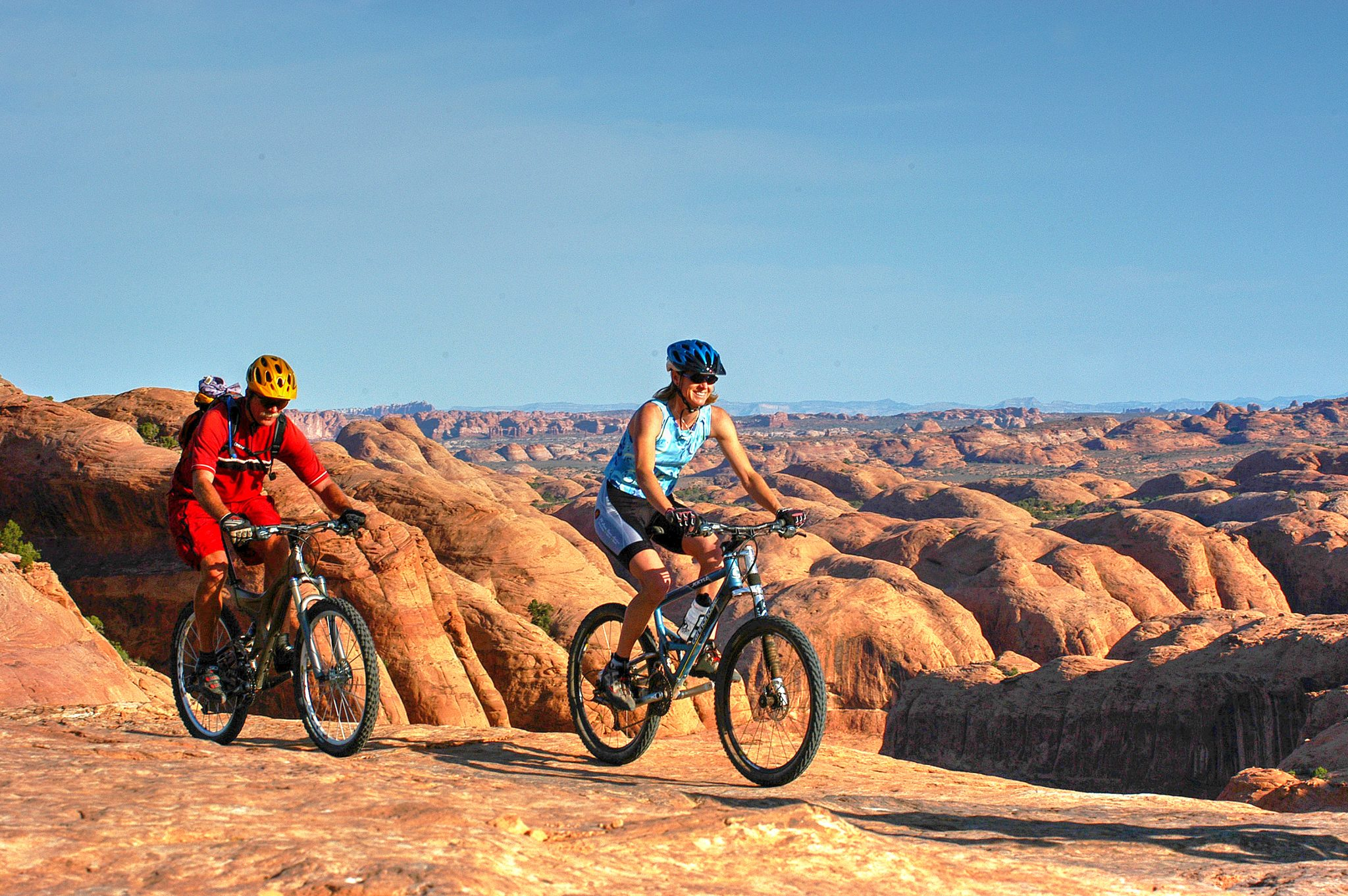 The Slickrock Trail is a great half day guided mountain bike tour at Moab UT