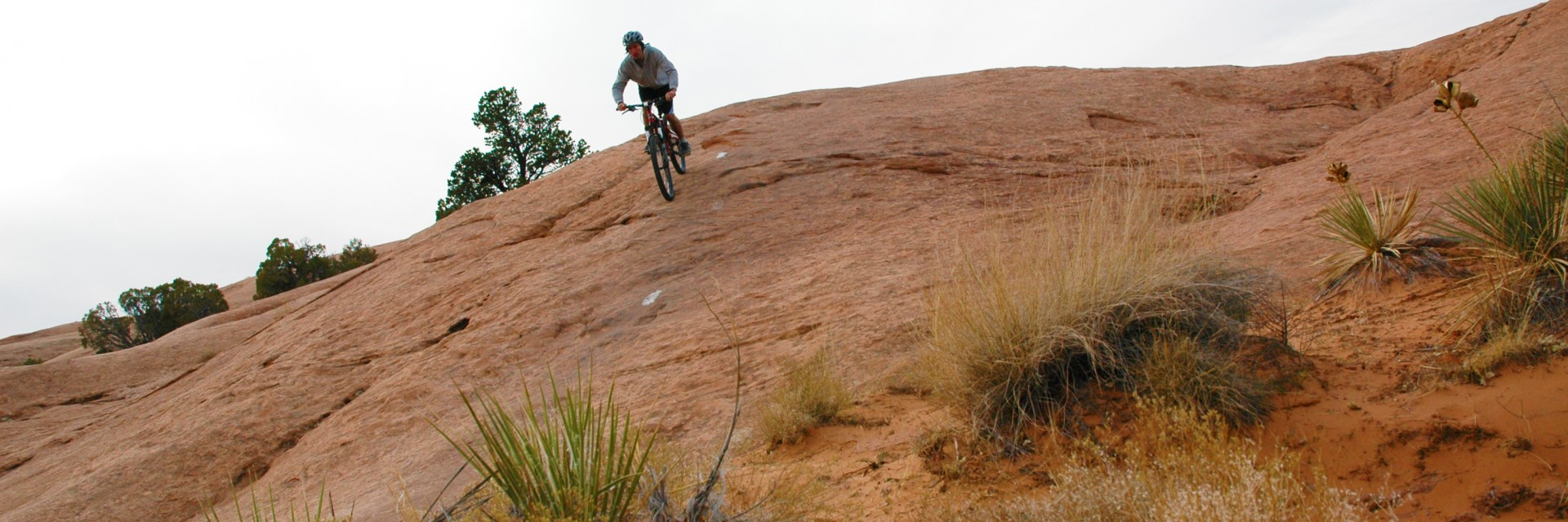 Sending it on Slickrock Trail, Moab UT