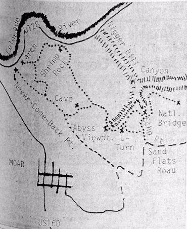 Slickrock Trail map
