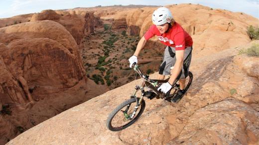 Utah, Moab: Mountain biking in Canyonlands National Park Read more: http://www.traveller.com.au/united-states-utah-moab-mountain-biking-in-canyonlands-national-park-and-arches-national-park-h1g3lg#ixzz5vCEA2mua Follow us: @TravellerAU on Twitter | TravellerAU on Facebook