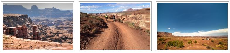 A photo gallery of the White Rim Trail mountain bike tour