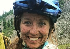 Backcountry Guide Corie Spruill likes mud on her face