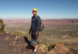 Day Tour Guide Michael Carlson at the Castle Valley overlook on Porcupine Rim near Moab UT