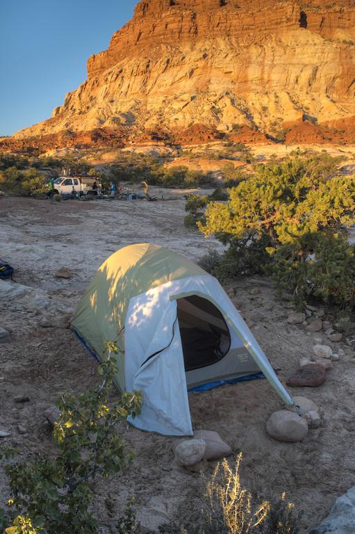16 October 2013.  Morning at Teapot Rock campsite.  Canyonlands NP.
